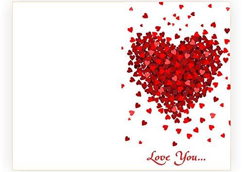 Amazon Handmade Real Wood Romantic Love You Hearts Card – Valentine Anniversary Cards