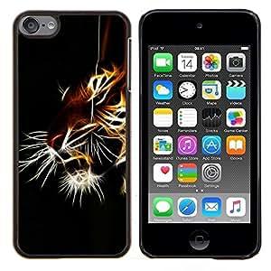 - NATURE TIGER ANIMAL BLACK IRIDESCENT - Caja del telšŠfono delgado Guardia Armor- For Apple iPod Touch 6 6th Generation Devil Case