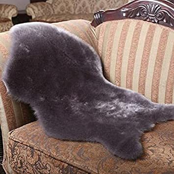 Area Rugs Sheepskin Rug Soft Hairy Carpet Chair Cover Seat Pad Fluffy Washable  Bedroom Faux Mat