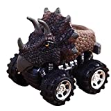 Dinosaur Model Mini Gift Toys Truck, Pull Back Cars Big Tire Wheel Vehicles Playset Funny Creative Birthday Christmas Party Race Car Toy Gift for Kids Toddlers (B)