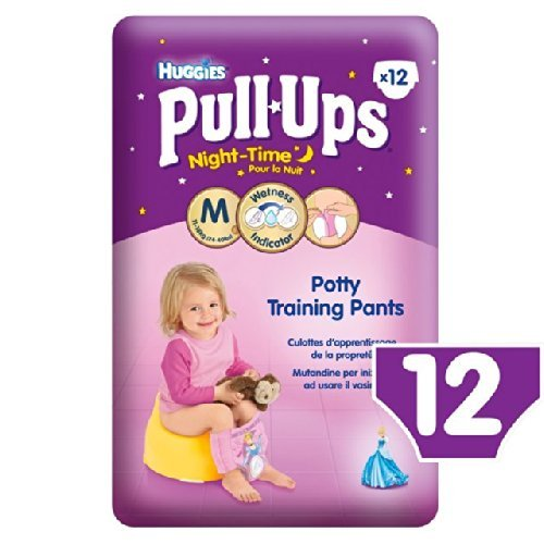 Huggies Medium Night Time Pull-Ups for Girls 11-18kg 12 per pack