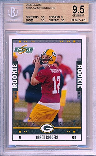 2005 Score #352 Aaron Rodgers Rookie BGS 9.5 GEM MINT Packers Shipped in Ultra Pro Graded Card Sleeve to Protect it ! - Bgs 9.5 Gem Mint