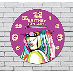BRITNEY SPEARS - 11.8 - HANDMADE ART WALL CLOCK - UNIQUE DESIGN - BE SPECIAL - THE BEST GIFT made by plastic