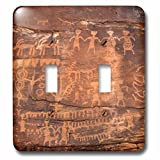3D Rose lsp_228184_2 USA, Southwest, Indian Petroglyphs on Sandstone. Double Toggle Switch