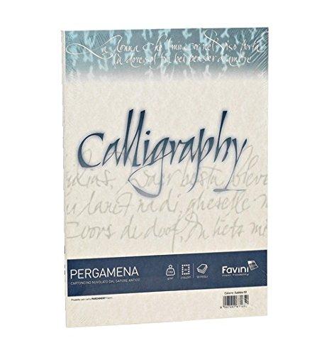 Carta Calligraphy Pergamena 190 gr 50 ff Oro