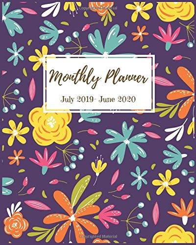 Amazon.com: Monthly Planner: Pretty Summer floral PlannerS ...