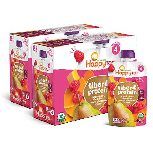 Happy Tot Organic Fiber & Protein Pouch Stage 4