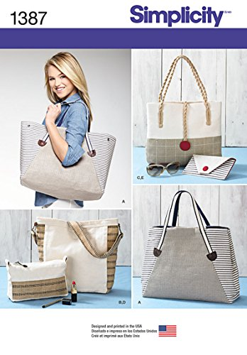 Simplicity Creative Patterns 1387 Bags, Assorted Sizes