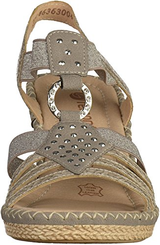 Femmes Sandales Cheville Remontre De D6768 Bracelet Un Taille Gris wzgqz6Ix