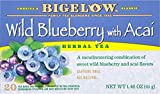 Bigelow Tea Wild Blueberry with Acai Herb Tea, 20-Count (Pack of 6)
