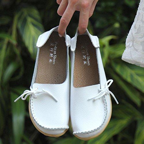 De Antidérapants Bureau Lacets Chaussures À Femmes Dame Extérieur Byste Plat Pois Blanche Occasionnels Chaussures Décor Loahers Confortables Pantoufles Fille Souple Cuir 5zxZwqn6q