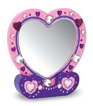 Bastelset Spiegel Herz Holz Basteln Bemalen Amazonde Spielzeug