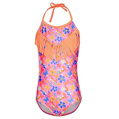 DUSISHIDAN Girls' Beach Sport 1-Piece Swimsuit Bathing Suit