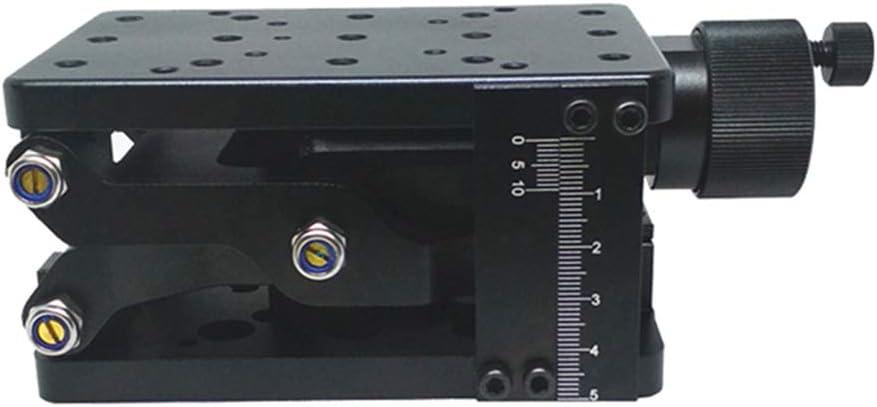 Caige 60 mm Kleine Precise z-Achse Manuelle Lab Jack Gro/ße Hub gro/ße Last Belastbarkeit 20 kg hohe Pr/äzision Hart Aluminium