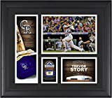 "Trevor Story Colorado Rockies Framed 15"" x 17"" Player Collage with a Piece of Game-Used Ball - MLB Player Plaques and Collages"