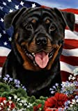 Rottweiler Dog Breed Patriotic House Flag 28 x 40 Inches