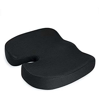 MKicesky Chair Pad For Hip Pain,Orthopedic Coccyx Memory Foam Seat Cushion  For Office Chair