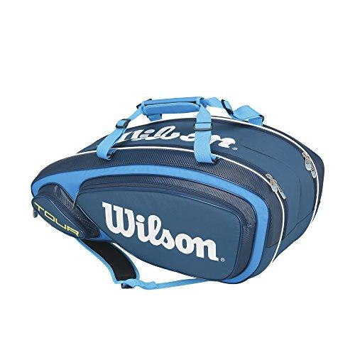 Wilson Tour V Collection Racket Bag (holds 9), Blue