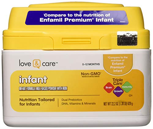 - Love & Care Infant Milk-Based Powder Infant Formula with Iron, 22.2 Ounce