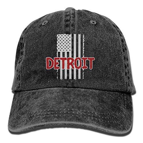 Detroit Pride Love USA Flag1 Unisex Baseball Cap Cotton Deni