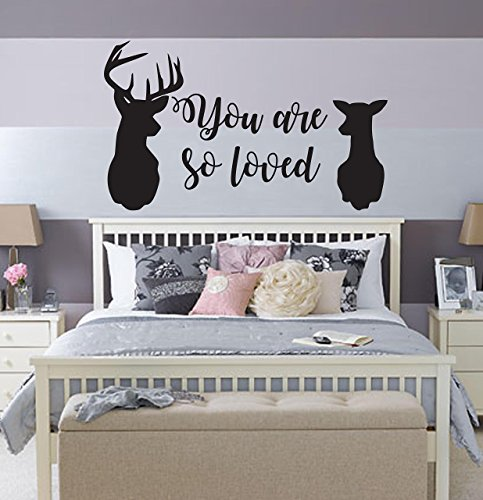 You are so loved deer Fantasy fandom storybook wall decal fantasy magic wand living room bedroom decor kids nursery wizard wizardry potter
