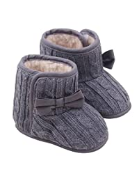 Newborn Infant Baby Bowknot Soft Sole Winter Warm Shoes Boots by XILALU