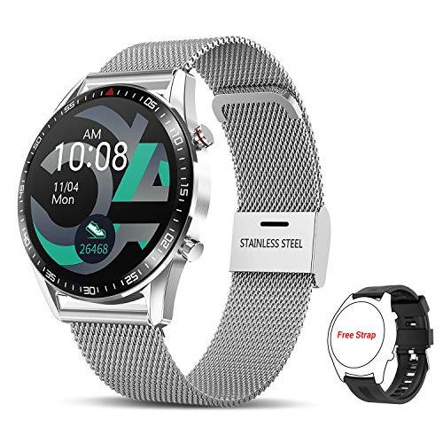 🥇 TagoBee Smartwatch Reloj Inteligente Hombres Mujer con Monitor de Sueño Presión Arterial Pulsómetros