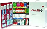 ProStat First Aid 0614B ANSI Z305.12015 Class B Compliant 4-Shelf Type I and II Steel First Aid Kit with Liner - 150 Person