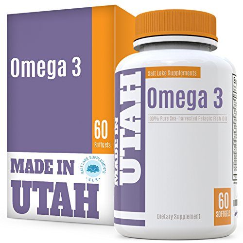 Flash Sale - Omega 3 Pure Sea Harvested Pelagic Fish Oil - Naturally Rich in Essential Fatty Acids High in EPA & DHA, for Cardiovascular & Brain Health and Joint Flexibility