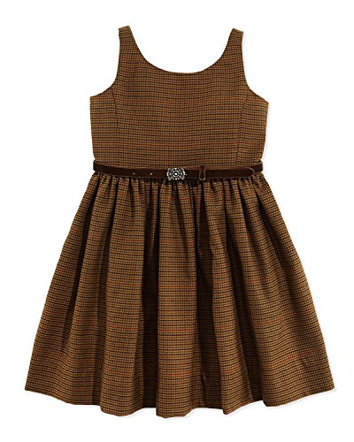 Ralph Lauren Polo Girls Houndstooth Tweed Jumper Dress (5)