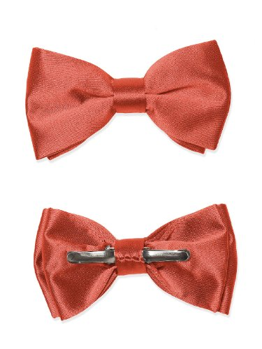 Boy's Matte Satin Clip Bow Tie by Dessy - Spice