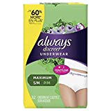Incontinence Underwear for Women, Maximum Classic Cut, Small/Medium, 32 count (Premium pack)