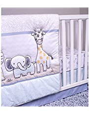 Sammy & Lou Safari Yearbook 4 Piece Crib Bedding Set