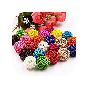 3cm Colorful Rattan Ball Artificial Flowers Ball Christmas Decoration 45