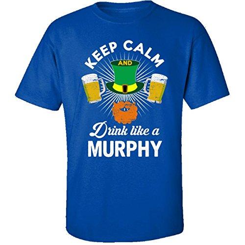 st-patricks-day-keep-calm-drink-like-a-murphy-gift-adult-shirt-2xl-royal