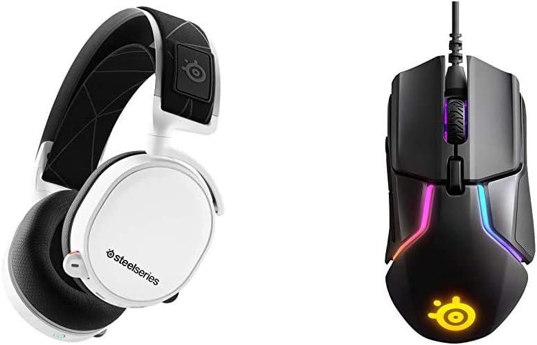 Steelseries Arctis 7 Auriculares De Juego, Inalámbricos Sin Pérdidas, DTS Headphone:X V2.0 Surround para Pc Y Playstation 4 + Rival 600, Ratón para Juegos, Sensor óptico Dual TrueMove3+
