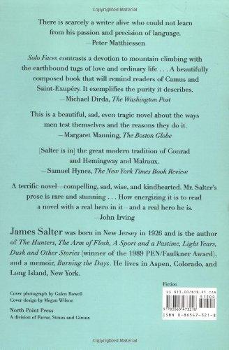 Solo Faces: A Novel: James Salter: 9780865473218: Amazon com: Books