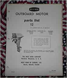 1961 West Bend Chrysler Outboard 12 Hp Parts