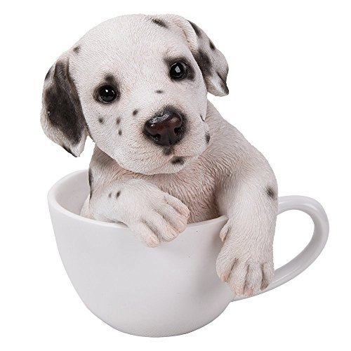 Adorable Teacup Pet Pals Puppy Collectible Figurine 5.75 Inches (Dalmatian)
