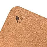 "42 Birds Cork Yoga Mat Lightweight, Soft, Travel Yoga Mat, Non Slip for Hot Yoga, Premium, Eco-Friendly, 100% Recycled Cork, Anti-Microbial - 72"" x 24"", 5mm Thick, 2.5lbs,"
