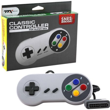 TTX SNES - Controller - Wired - Super Famicom Style - Grey - Retail Packaging (Famicom Controller compare prices)