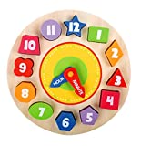effe bebe Play & Learn Wooden Toys: Clock Puzzle