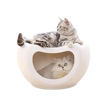 GY Cueva De Cama De Gato Multifuncional para Gatos Y Gatitos, para Refugio Interior Acogedor