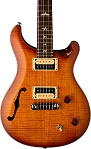 prs 6 string se custom 22 semi hollow electric guitar vintage sunburst right. Black Bedroom Furniture Sets. Home Design Ideas