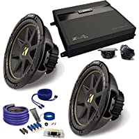 (2) Kicker 10C104 10 Comp Subwoofers and a ZA2-1000.1D 1000 Watt Amp + wire kiT