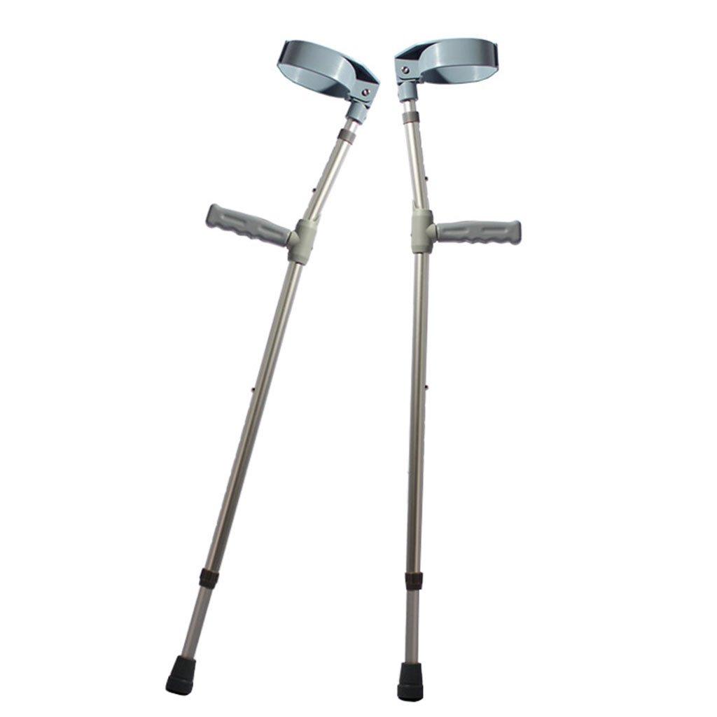 肘の松葉杖のペア医療松葉杖の骨折軽量の松葉杖滑り止め杖 B07DMKJL8R