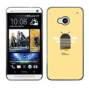 FECELL CITY // Duro Aluminio Pegatina PC Caso decorativo Funda Carcasa de Protección para HTC One M7 // Wings Yellow Peach Android