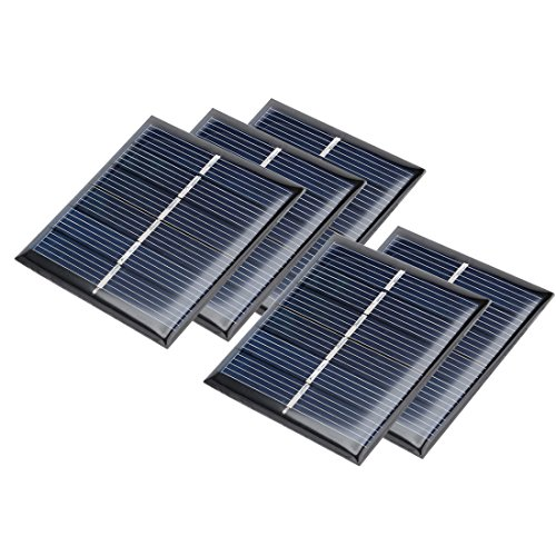 uxcell 5Pcs 3V 110mA Poly Mini Solar Cell Panel Module DIY for Phone Light Toys Charger 60mm x 55mm