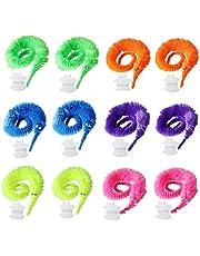 12 Stuks Magische Worm Speelgoed, Wiggly Twisty Fuzzy Worm Speelgoed, Gelden Carnaval Feestartikelen, Speelgoed voor Kinderen en Kat (6 Kleuren)