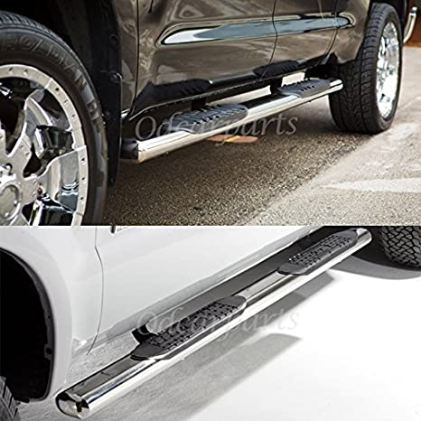 VioGi Fit 04-08 Ford F150 06-08 Lincoln Mark LT Super Crew Cab 4 Oval Tube S//S Side Step Rails Nerf Bar Running Boards
